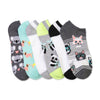 Women's 6-pack Fluffy Friend No-Show Socks - Fuzzy Babba