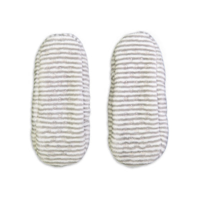 Women's Striped Springtime Soft Slipper - Fuzzy Babba