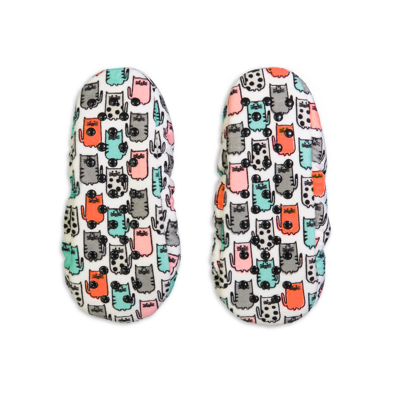 Women's Kitten Print Silky Springtime Slipper Sock