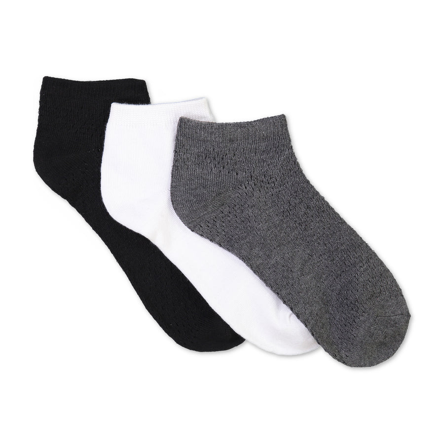 Women's 3-pack Mesh Ankle Socks - Fuzzy Babba