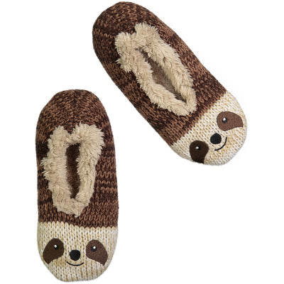 Women's Sloth Face Knit Slipper Sock
