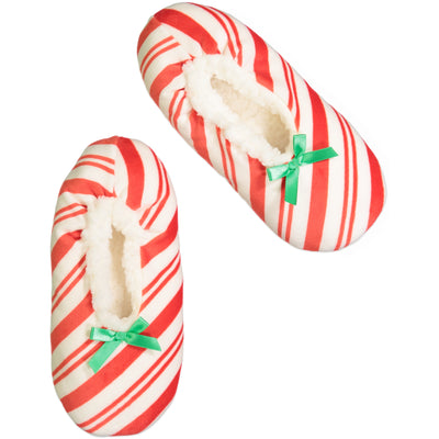 Women's Candy Cane Stripe Holiday Slipper Sock