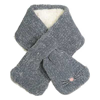 Women's Kitty Chenille Pull-through Scarf