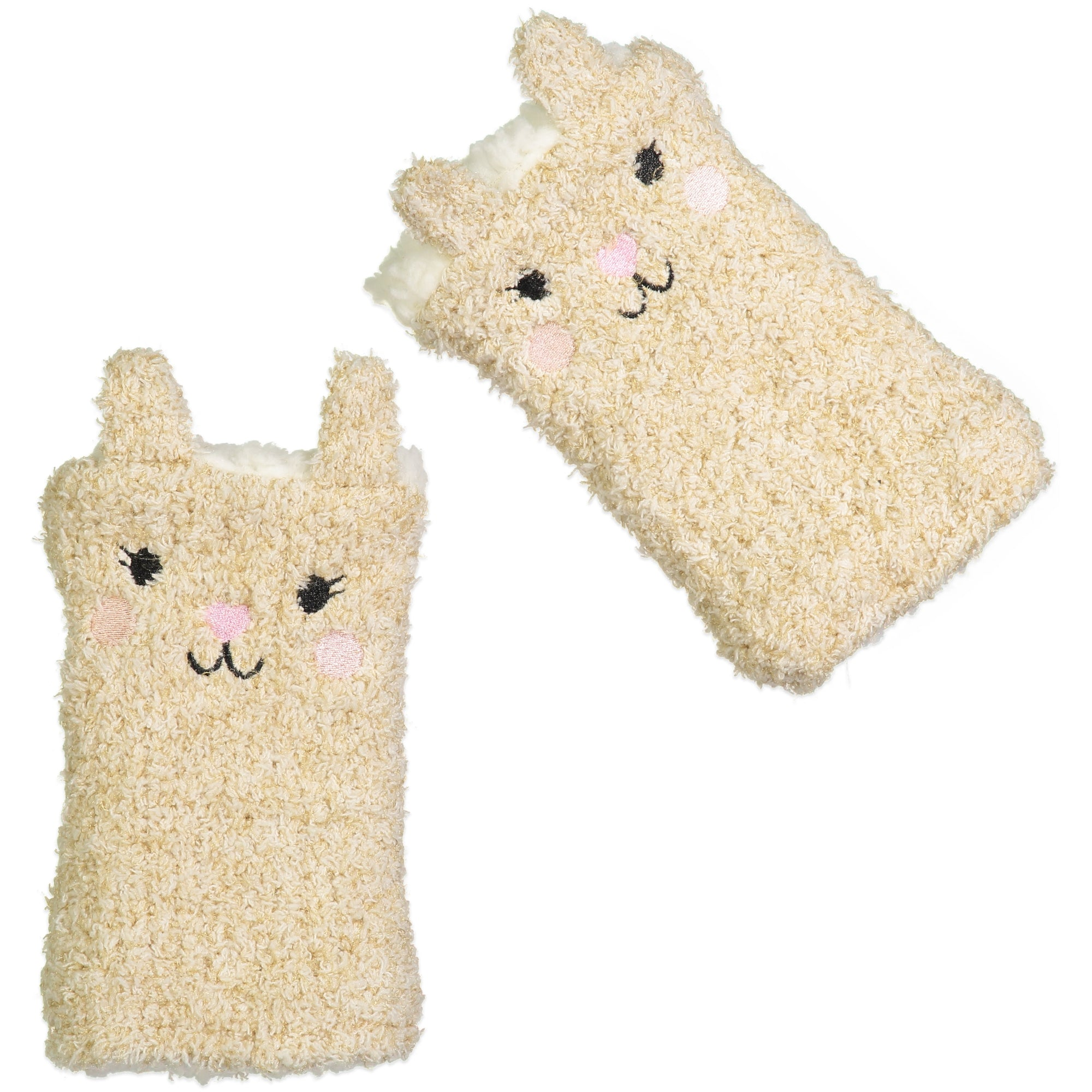 Women's Bunny Fingerless Gloves with Pop-up Ears