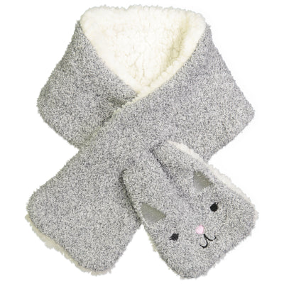Women's Kitty Cat Pull-through Scarf