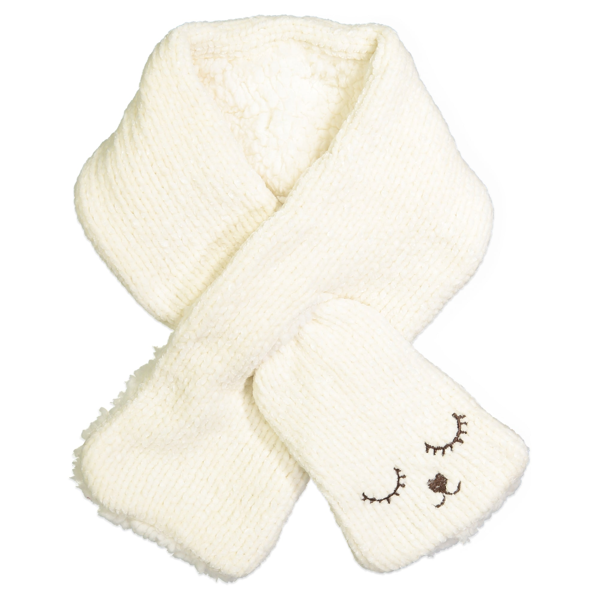 Women's Bear Chenille Pull-through Scarf
