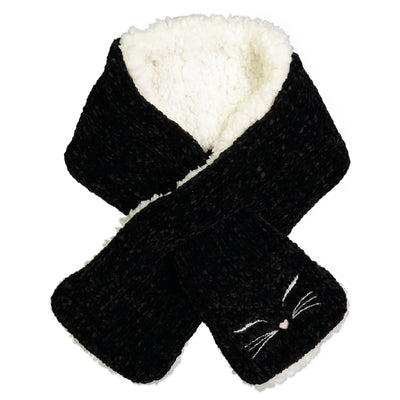 Black Cat Pull-through Scarf I Women I Fuzzy Babba
