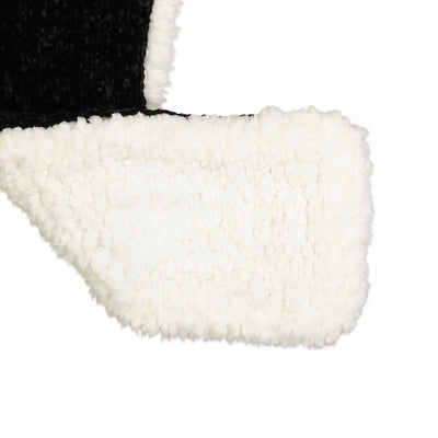 Women's Black Cat Chenille Pull-through Scarf