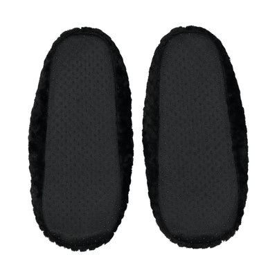 Quilted Mule Slipper with Bow in Black