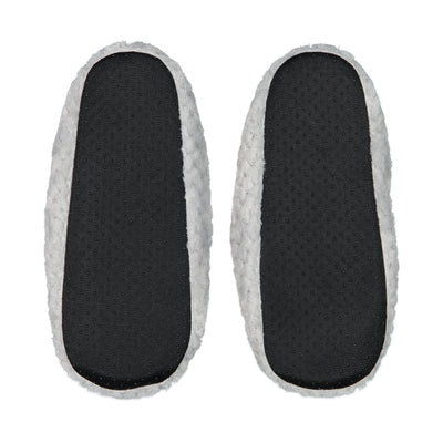 Quilted Mule Slipper with Bow in Gray