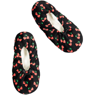 Women's Lightweight Slipper Sock with Cherry Print