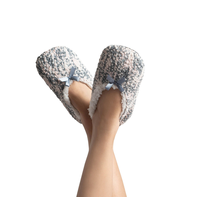 Womens Popcorn Plush Slipper Socks