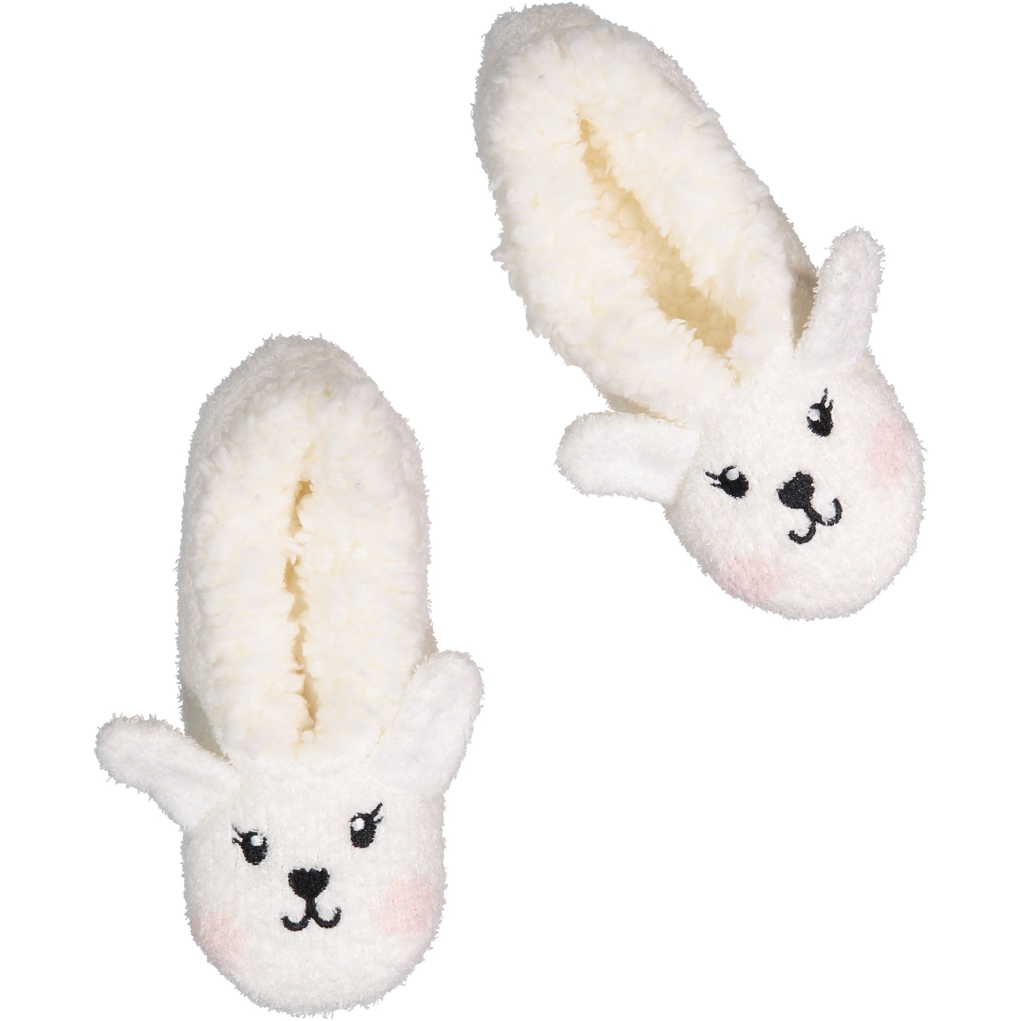 Womens Fluffy Bunny Slipper Socks