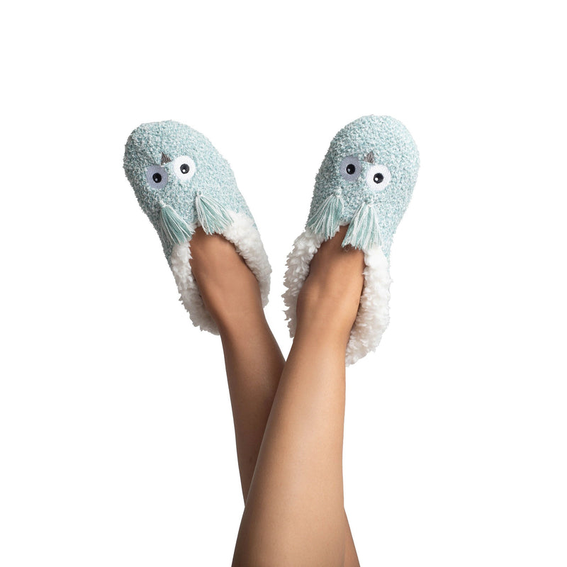 Womens Fluffy Owl Slipper Socks