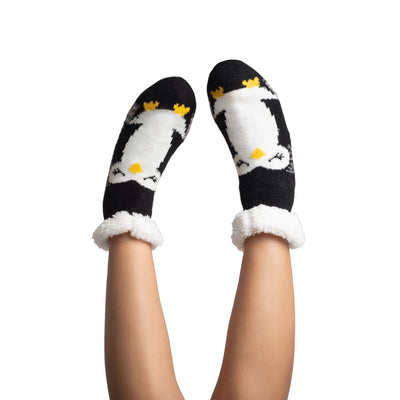 Women's Cozy Koala Slipper Socks with Sherpa Lining - Reference