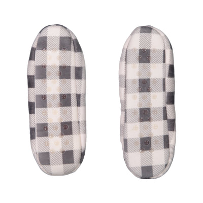 Womens Stretchy Gingham Slipper Socks