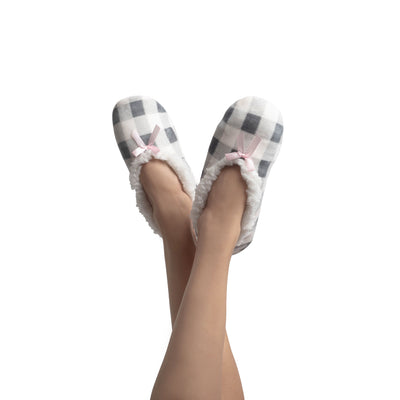 Women's Stretchy Sloth Slipper Sock with Satin Bow - Reference