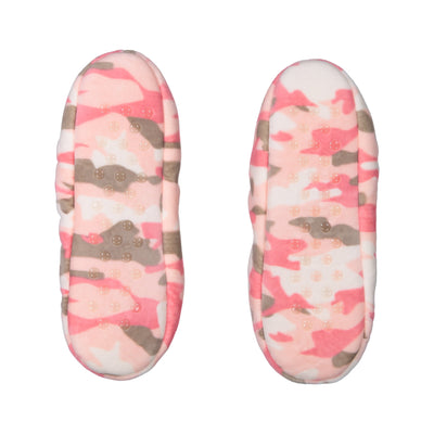 Womens Stretchy Camo Slipper Socks