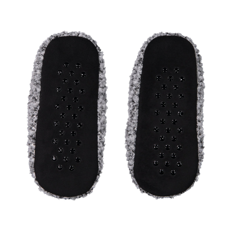 Womens Fuzzy Slipper Socks with Sporty Ankle Band