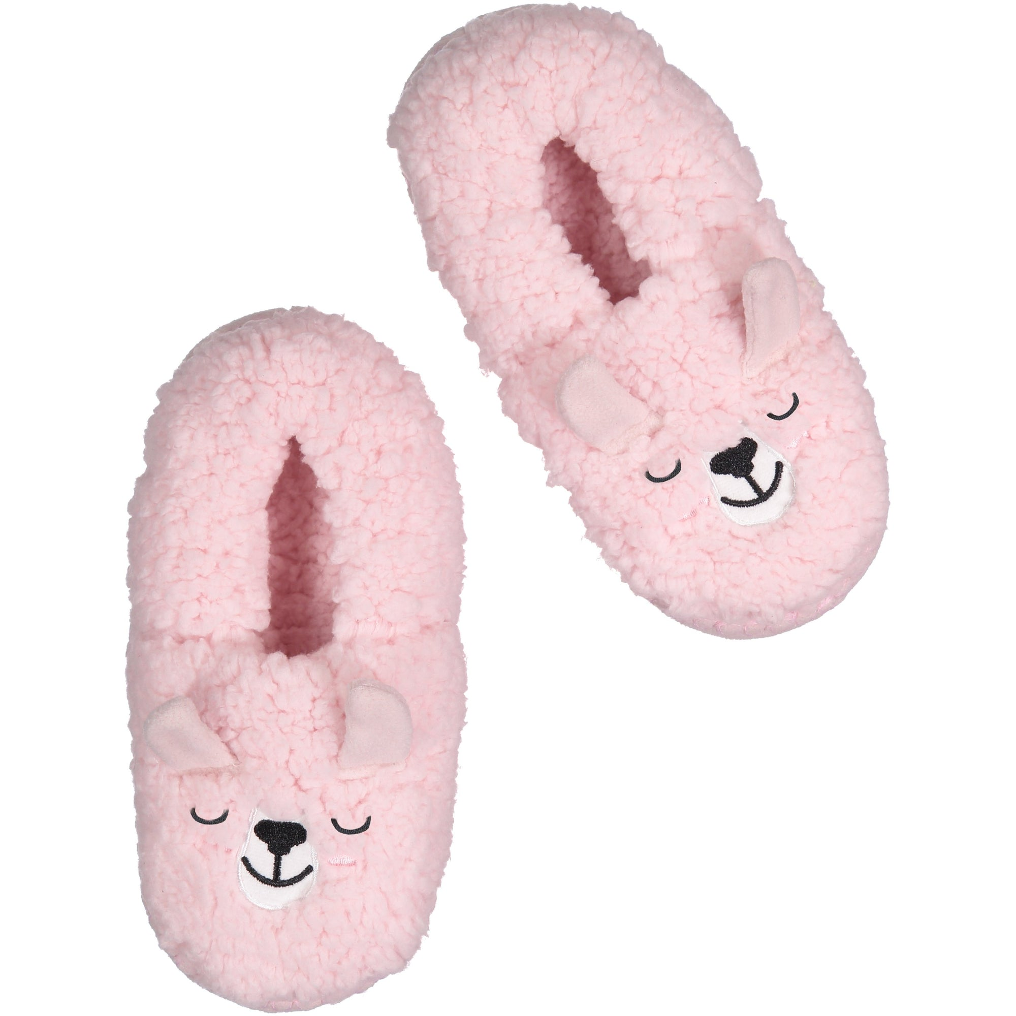 Womens Marshmallow Dream Slipper Socks with Llama Face