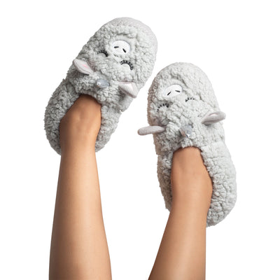 Women's Marshmallow Dream Slipper Socks with Bear Face