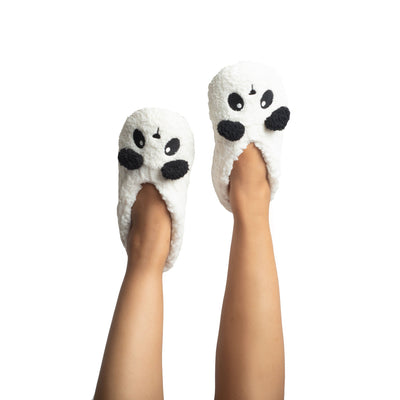 Womens Chenille Slipper Socks with Panda Bear Face