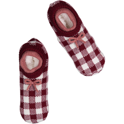 Women's Snuggly Ankle Cuff Knit Slipper Socks