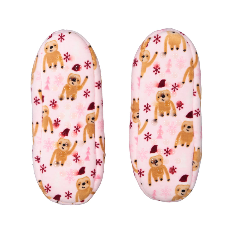 Women's Sloth Print Stretchy Holiday Slipper Socks