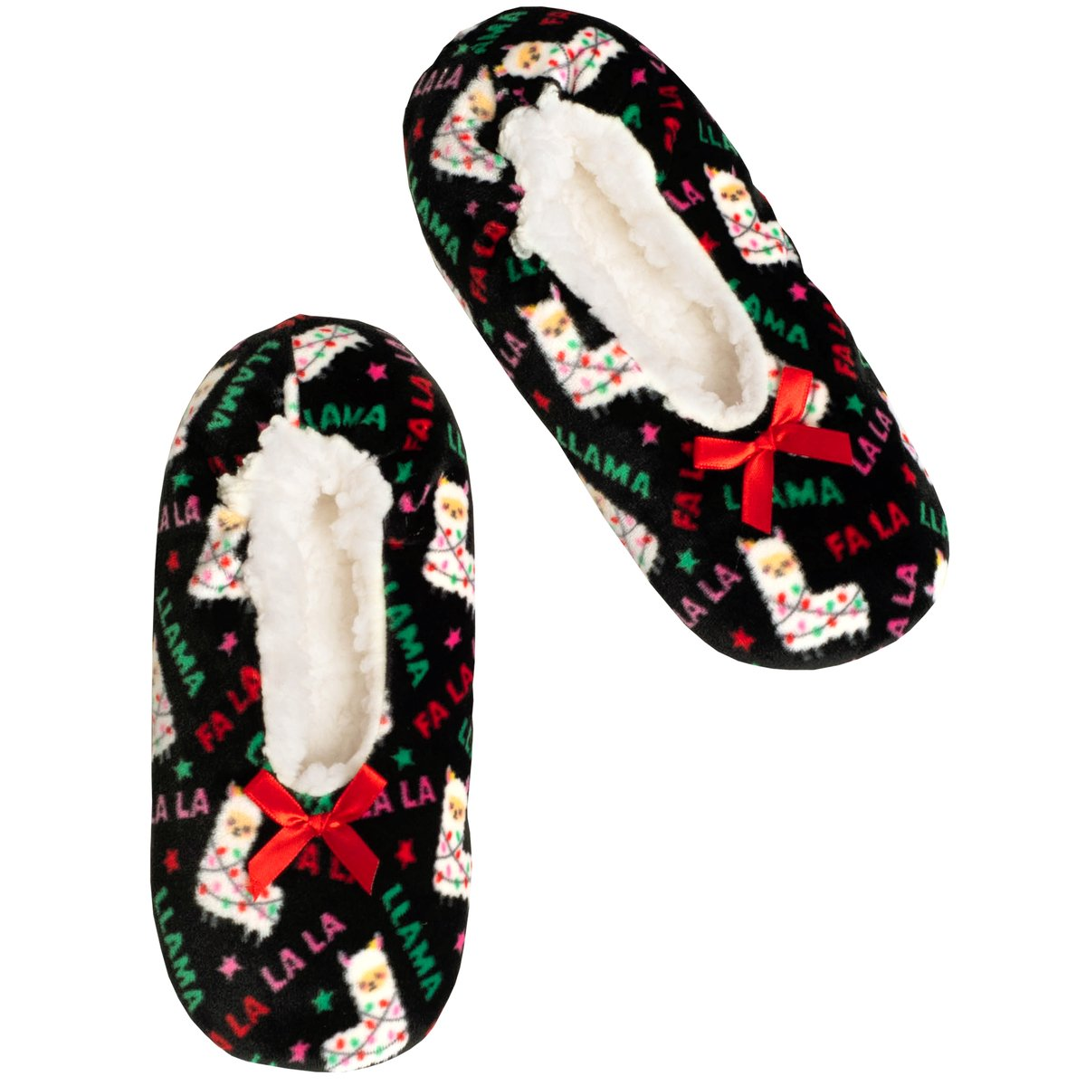 Women's Llama Print Stretchy Holiday Slipper Socks