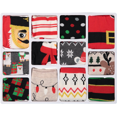 Women's 12 Days of Socks Holiday Advent Box