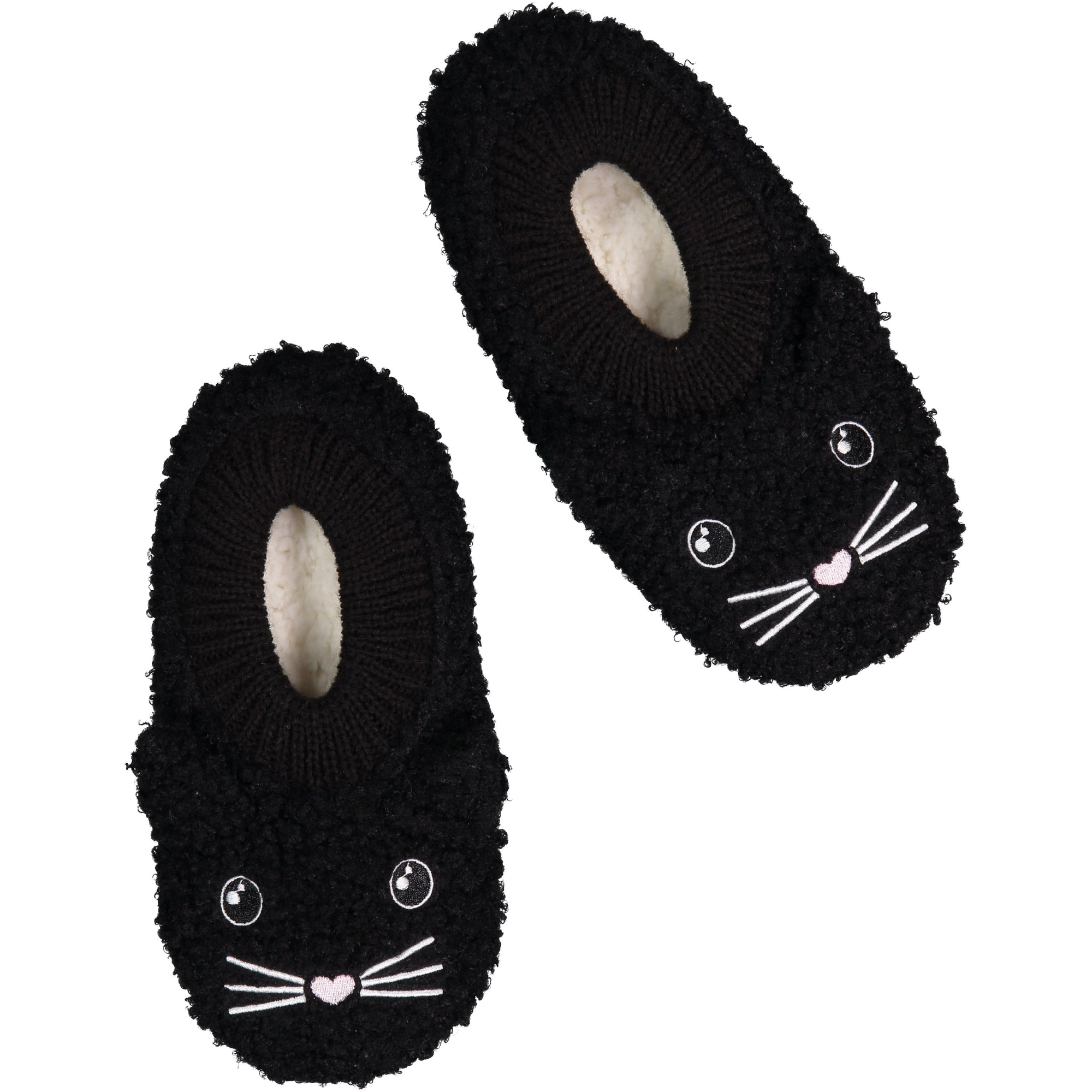 Women's Soft Black Cat Slipper Socks