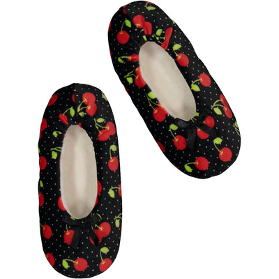 Women's Lightweight Cherry Slipper Socks