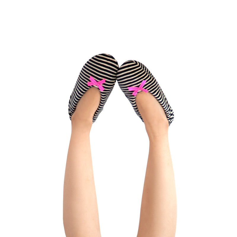Women's Lightweight Striped Slipper Socks