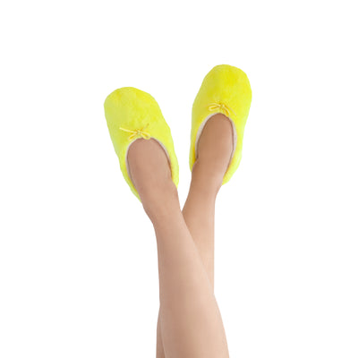 Women's Lightweight Neon Yellow Slipper Socks