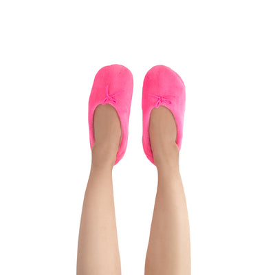 Women's Lightweight Hot Pink Slipper Socks