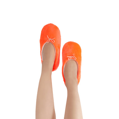 Women's Lightweight Bright Orange Slipper Socks