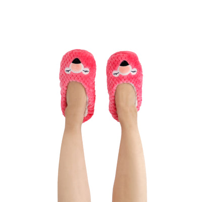 Women's Lightweight Flamingo Face Slipper Socks