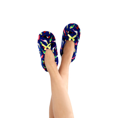Women's Lightweight Tropical Bird Slipper Socks