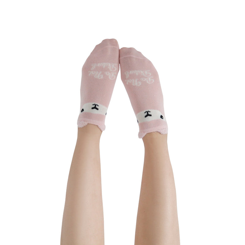 "Women's ""Do Not Disturb"" Fuzzy Ankle Socks with Grips - 2 pk"