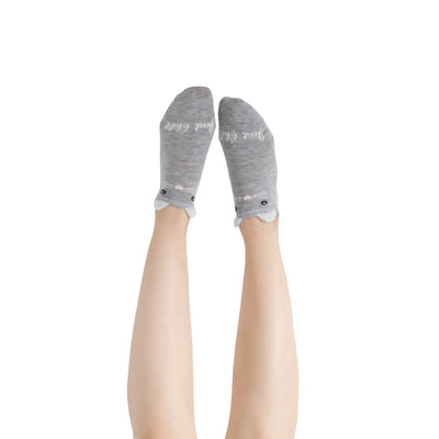 "Women's ""Just Chill"" Fuzzy Ankle Socks with Grips - 2 pk"