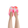 Women's Pink Tie Dye Slipper Socks