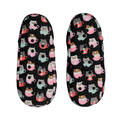 Women's Lightweight Teacup Cat Slipper Socks
