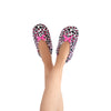 Women's Pink Cheetah Slipper Socks