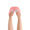 Women's Pink Gingham Slipper Socks