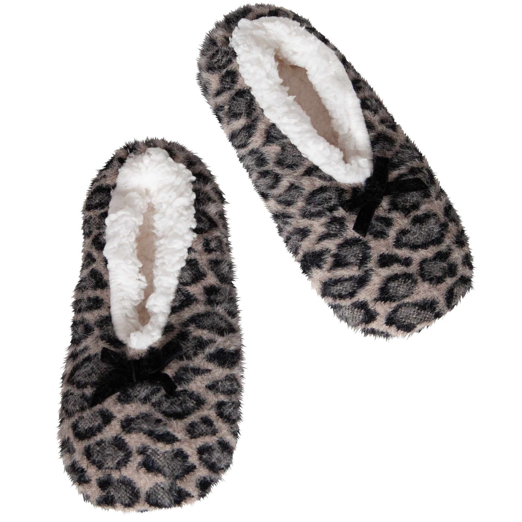 Women's Feather Leopard Slipper Socks