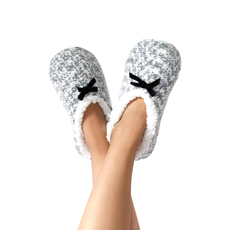 Women's Feather Heathered Slipper Socks