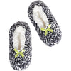 Women's Snow Leopard Print Slipper Socks