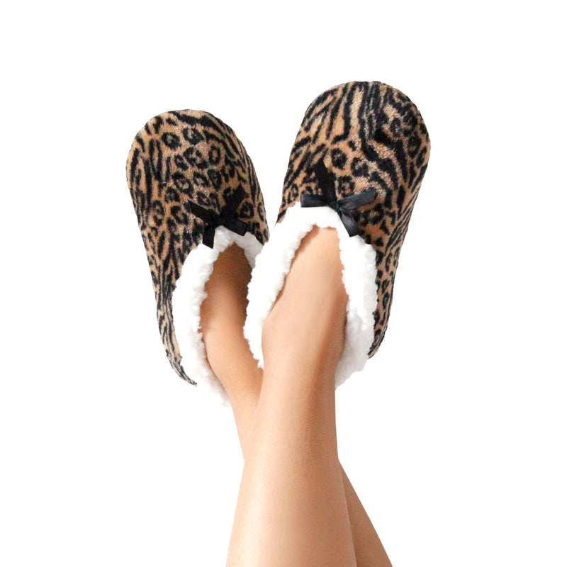 Women's Leopard Print Slipper Socks
