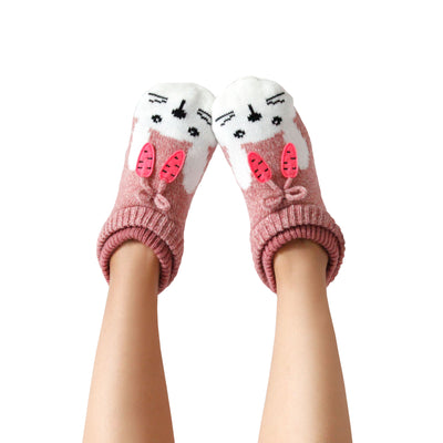 Women's Bunny Face Knitted Slipper Socks