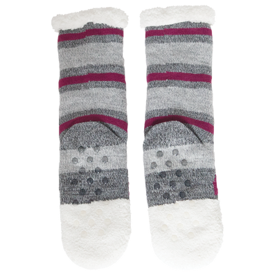 Women's Fox Face Cozy Warmer Slipper Socks with Sherpa Lining
